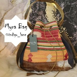 """Myra """"Quick Witted"""" Leather, Rug & Hair-on Bag"""